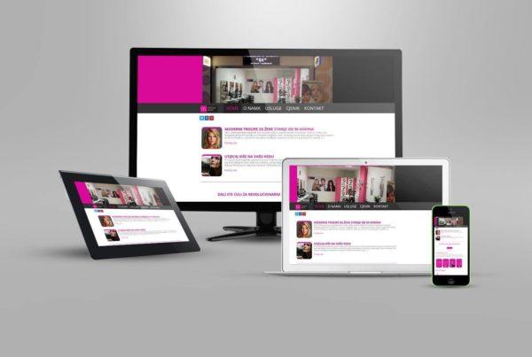 izrada web stranice za frizerski studio