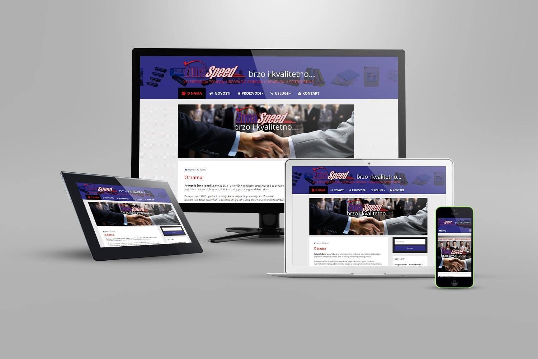 izrada web stranice za manje poduzeće