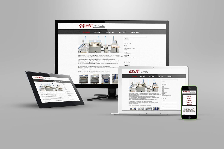 Izrada web stranica za grafičke strojeve