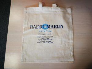 radio marija - tisak na platnene vrećice
