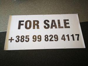 tisak na banner - prodaja
